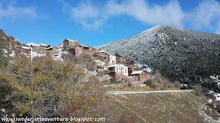 Pueblo de Rubió después de la nevada