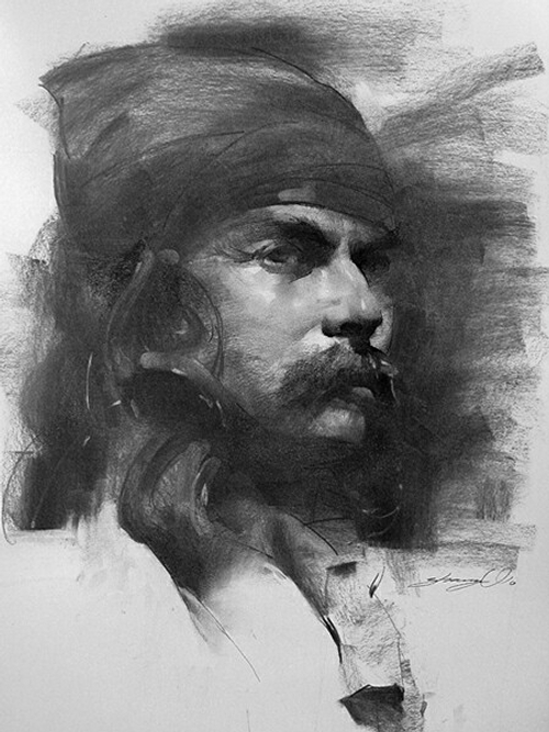 09-Zhaoming-Wu-Our-Essence-Captured-in-Charcoal-Portrait-Drawings-www-designstack-co