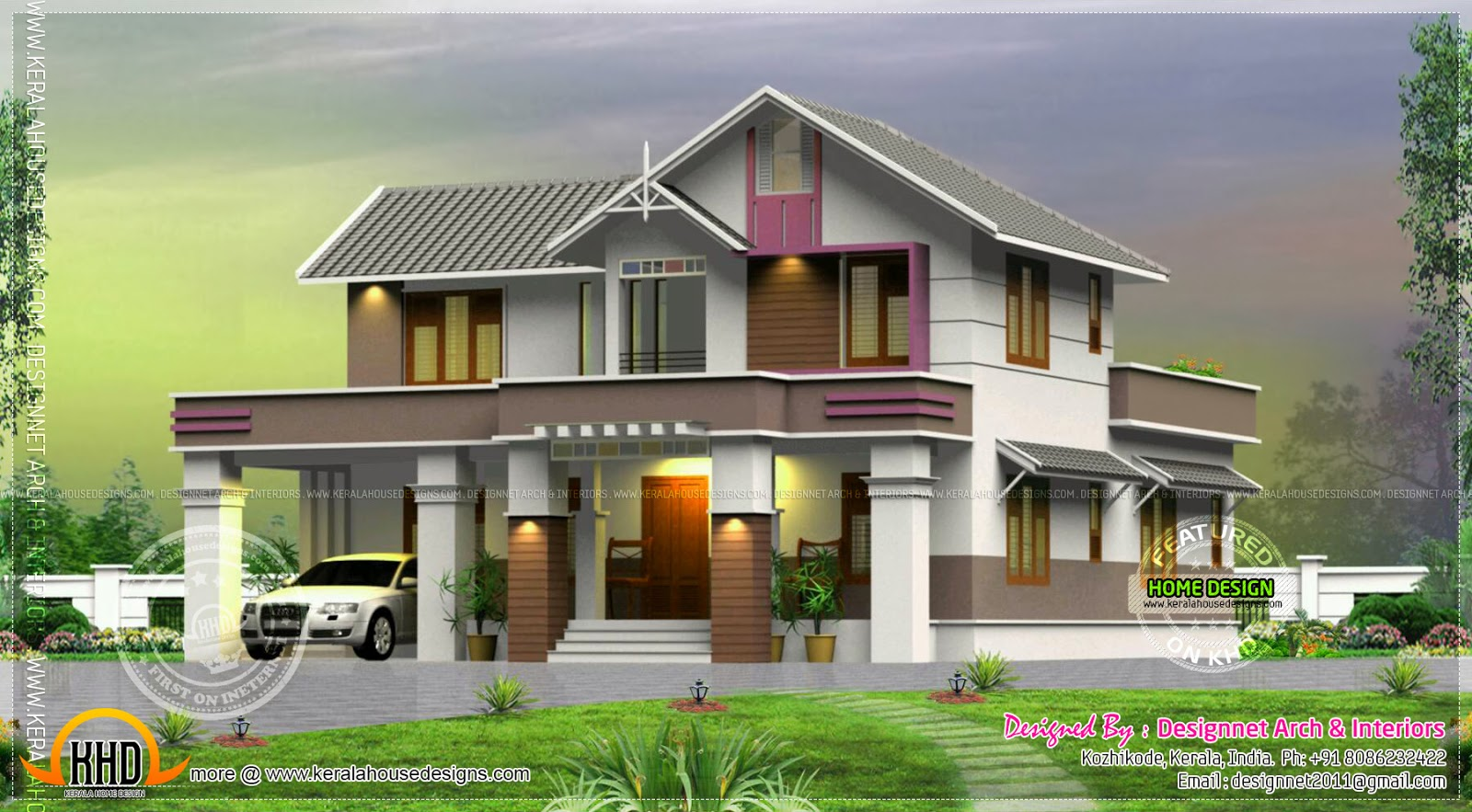 February 2014 kerala home design and floor plans for Designer house plans