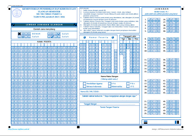Aplikasi Cetak LJK Untuk Ujian Dan Ulangan Siswa