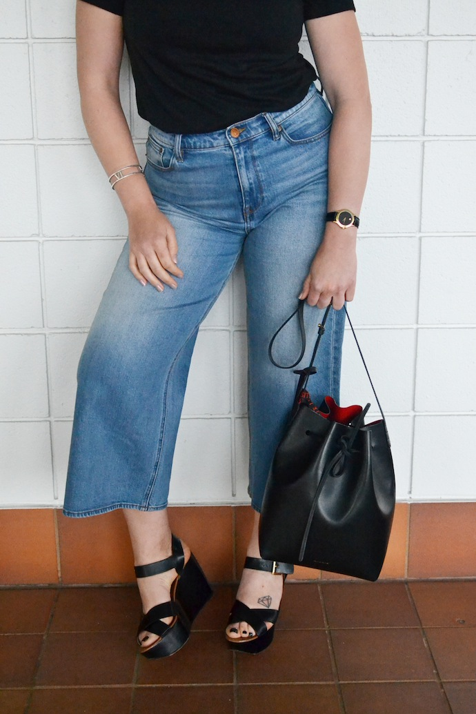 denim culottes how to wear J.Crew Rayner jeans