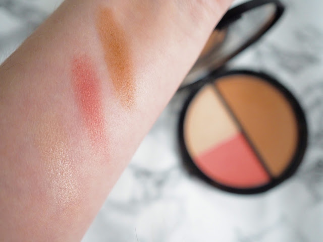 Crown Brush makeup palette swatches