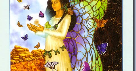 Schmetterlingsfrau