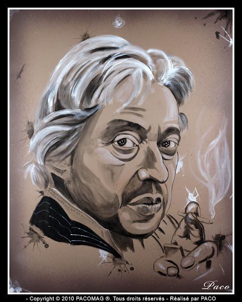Portrait de Serge Gainsbourg par Paco