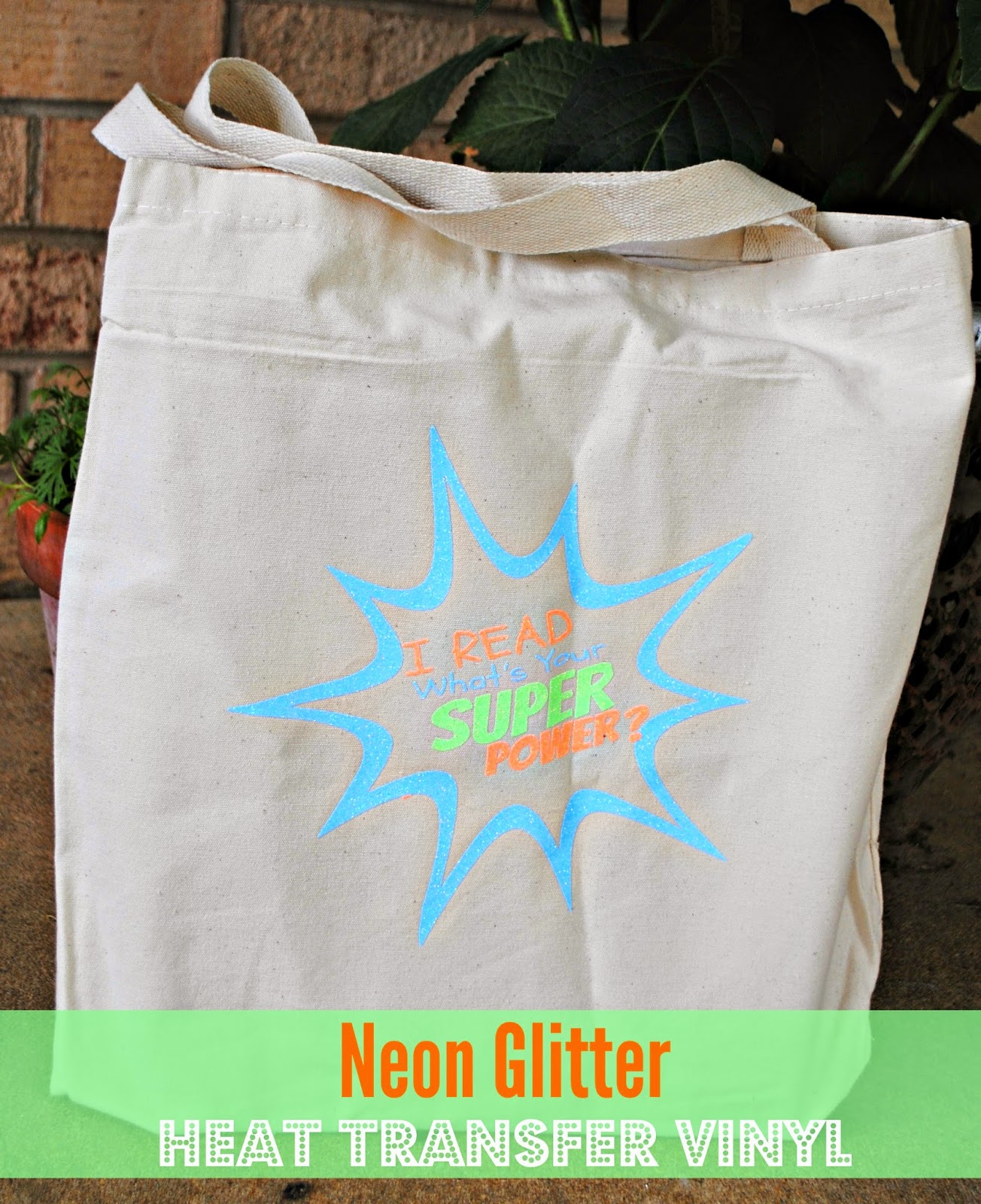 Book bag, library, glitter, heat transfer vinyl, htv