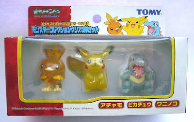 Torchic figure semi-clear version Tomy Monster Pokemon Center Fukuoka Opening anniversary figures set