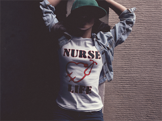 Get your Nurse Life T-shirt with Heart Shaped Stethoscope Today!