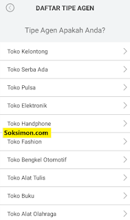 Daftar tipe agen toko Payfazz
