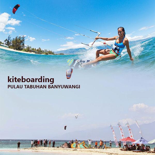 Kiteboarding Pulau Tabuhan Banyuwangi