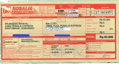 nomor resi pengiriman rosalia express