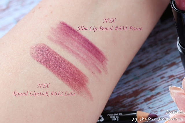 NYX Slim Lip Pencil Prune, свотчи, отзывы