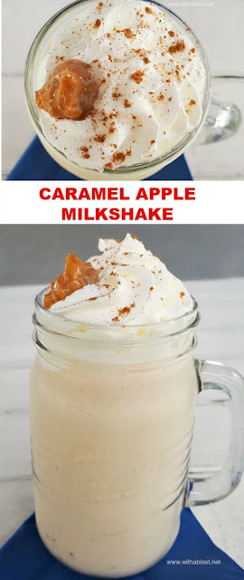 Caramel Apple Milkshake is a thick, kid-friendly drink with a hint of Cinnamon and made using Yogurt for a lighter Milkshake