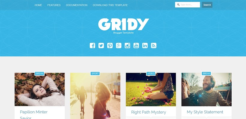 Gridy Free Blogger Template
