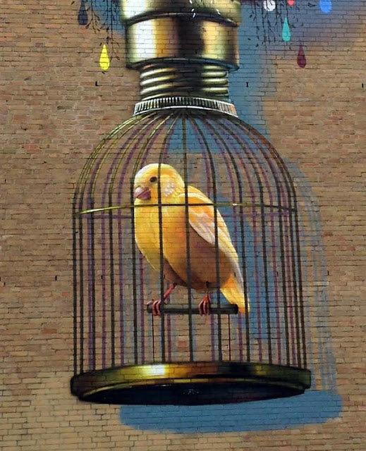 Street Art In Heerlen by Colin Van Der Sluijs, Bird close up