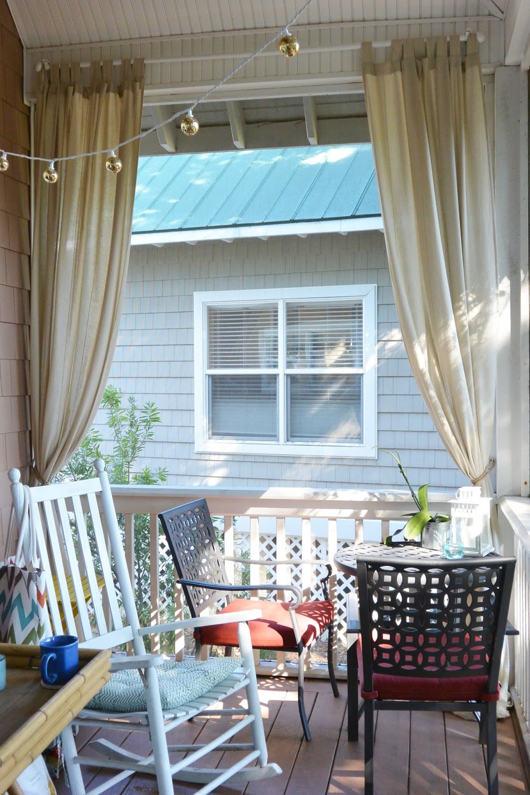 Outdoor Curtains And Diy Rope Curtain Tie Backs Stripes And Whimsy