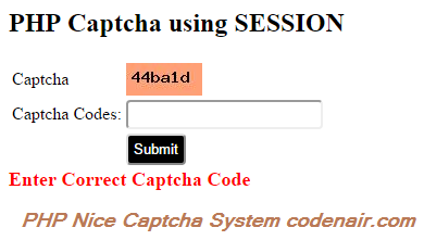 PHP Captcha System (Captcha with php GD)