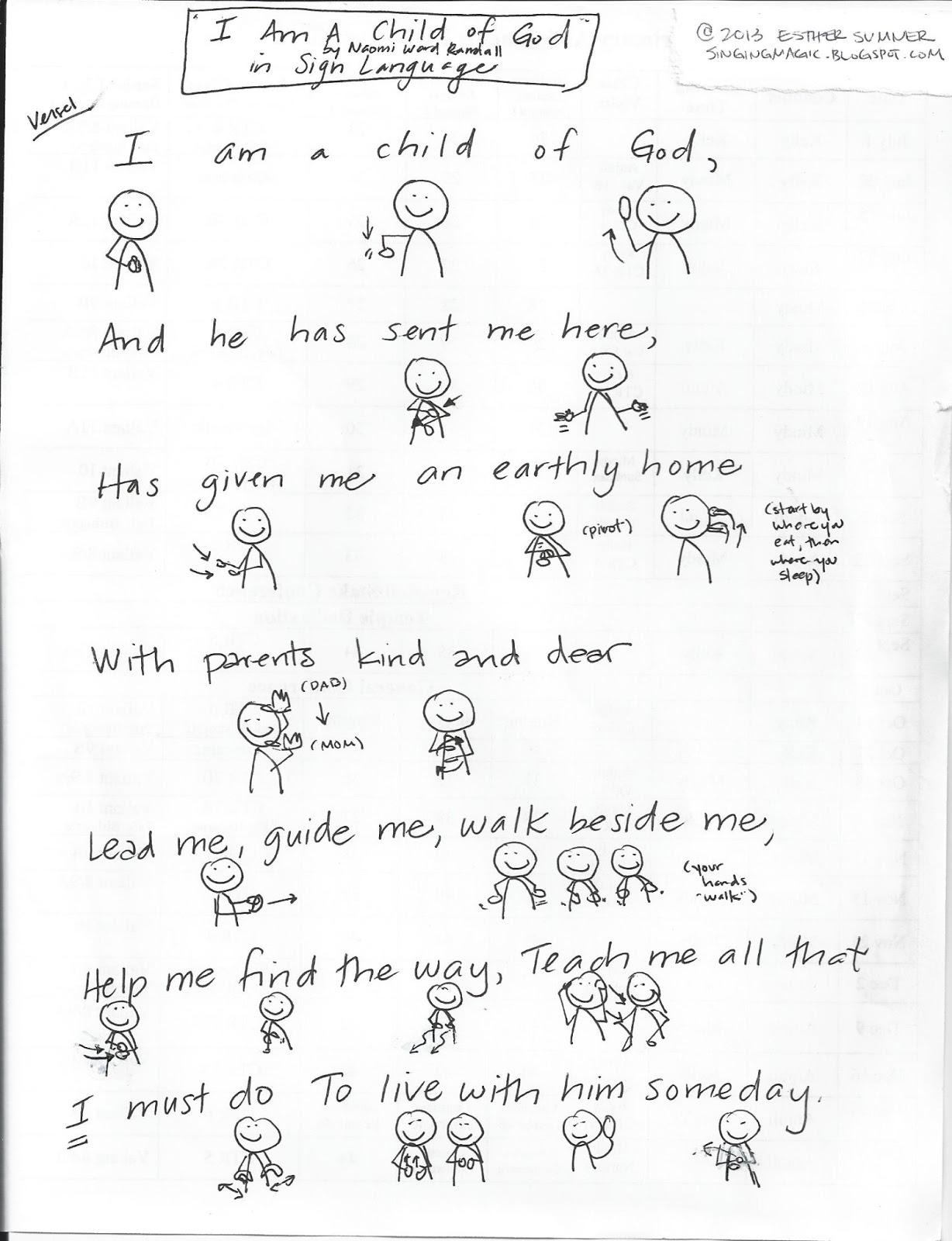 Primary Singing Time Chorister Ideas January