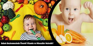 Bebek Beslenmesinde Önemli Vitamin ve Mineraller