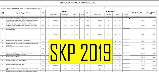Aplikasi Sasaran Kerja Pegawai (SKP) 2019