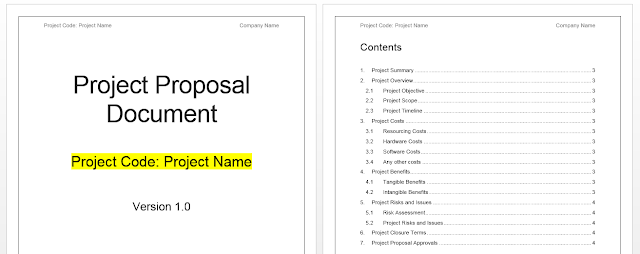 Project Proposal Template Word Free