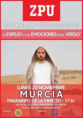 """charla-coloquio: """"El Espejo y las Emociones en el Verso"""". I Semana Cultural de la Facultad de Letras."""