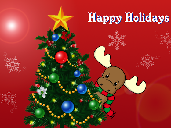 besplatne Božićne pozadine za desktop 1024x768 free download čestitke blagdani Merry Christmas sob Rudolph Happy Holidays