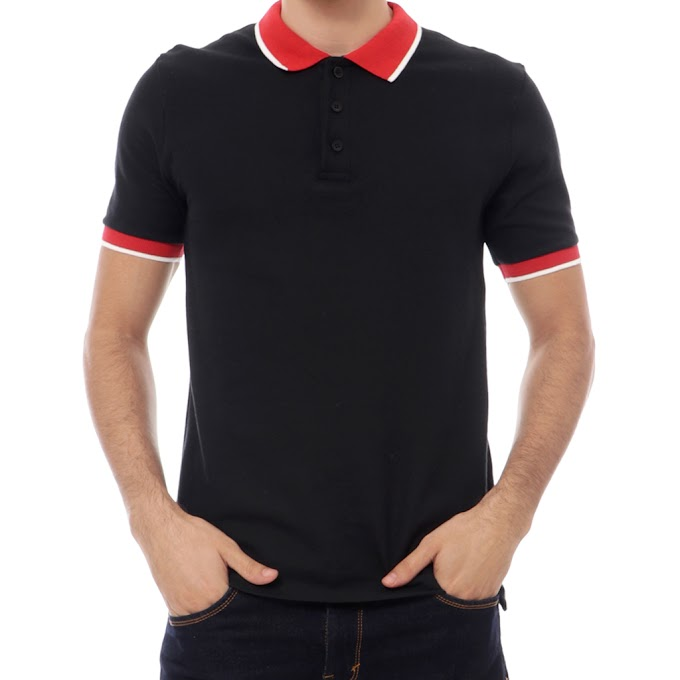 Atasan Pria Polo Shirt Premium Piano Black