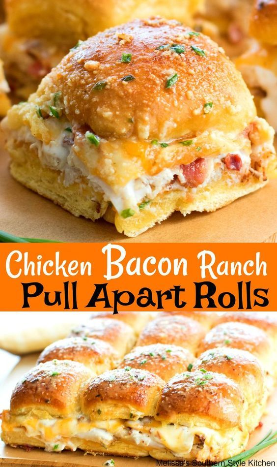 Chicken Bacon Ranch Pull Apart Rolls #chicken #chickenrecipes #bacon #ranch #pull #apart #rolls #tasty #tastyrecipes #delicious #deliciousrecipes