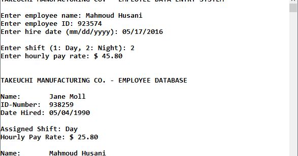 My C++ Playground: Programming Challenge 15 1 - Employee and