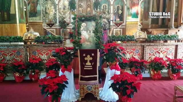 Εξαιρετική διακόσμηση εκκλησίας στο Λάλουκα Άργους για τα Χριστούγεννα (βίντεο)