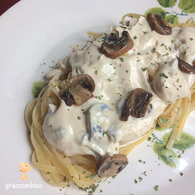 Molho Alfredo vegano