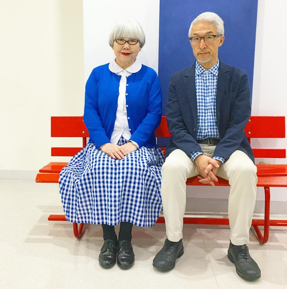 e5fa5367fa This Japanese couple has been married for 37 years and since December 2016,  they've posted photos of themselves in matching outfits on their co-owned  ...