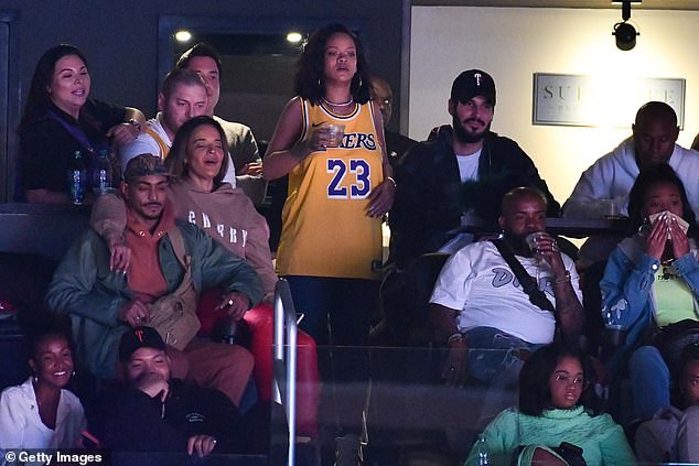 Rihanna and her beloved billionaire Hassan Jameel photographed together at Los Angeles Lakers