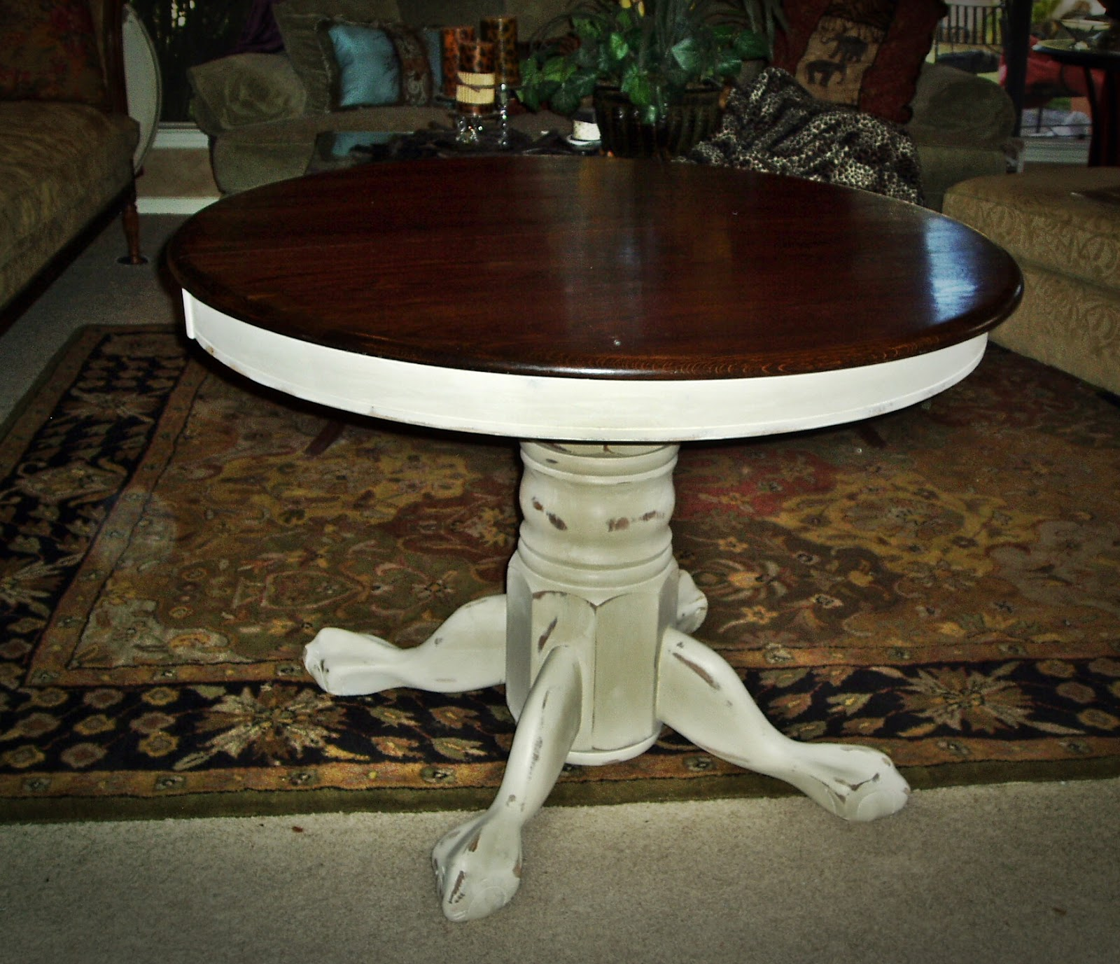 Faux Painting + Furniture: French Country Round Pedestal ...