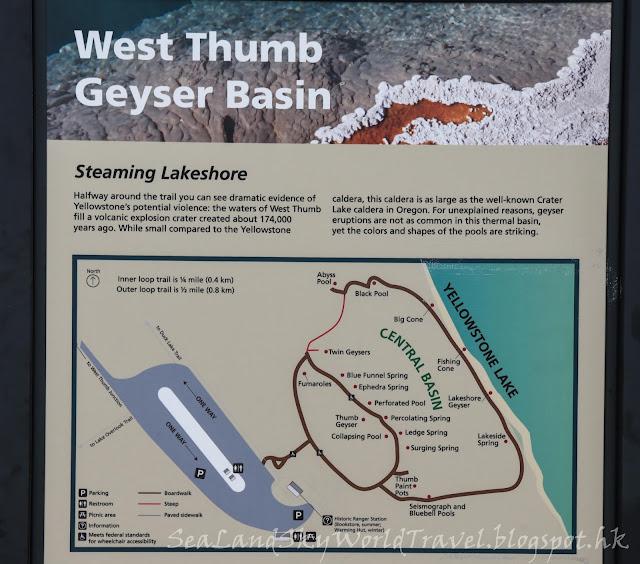 黃石國家公園, yellowstone national park, map, 地圖, West Thumb Geyser Basin
