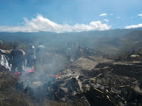 Begini Kronologi Pesawat Hercules TNI AU yang Tabrak Gunung dan Langsung Terbakar