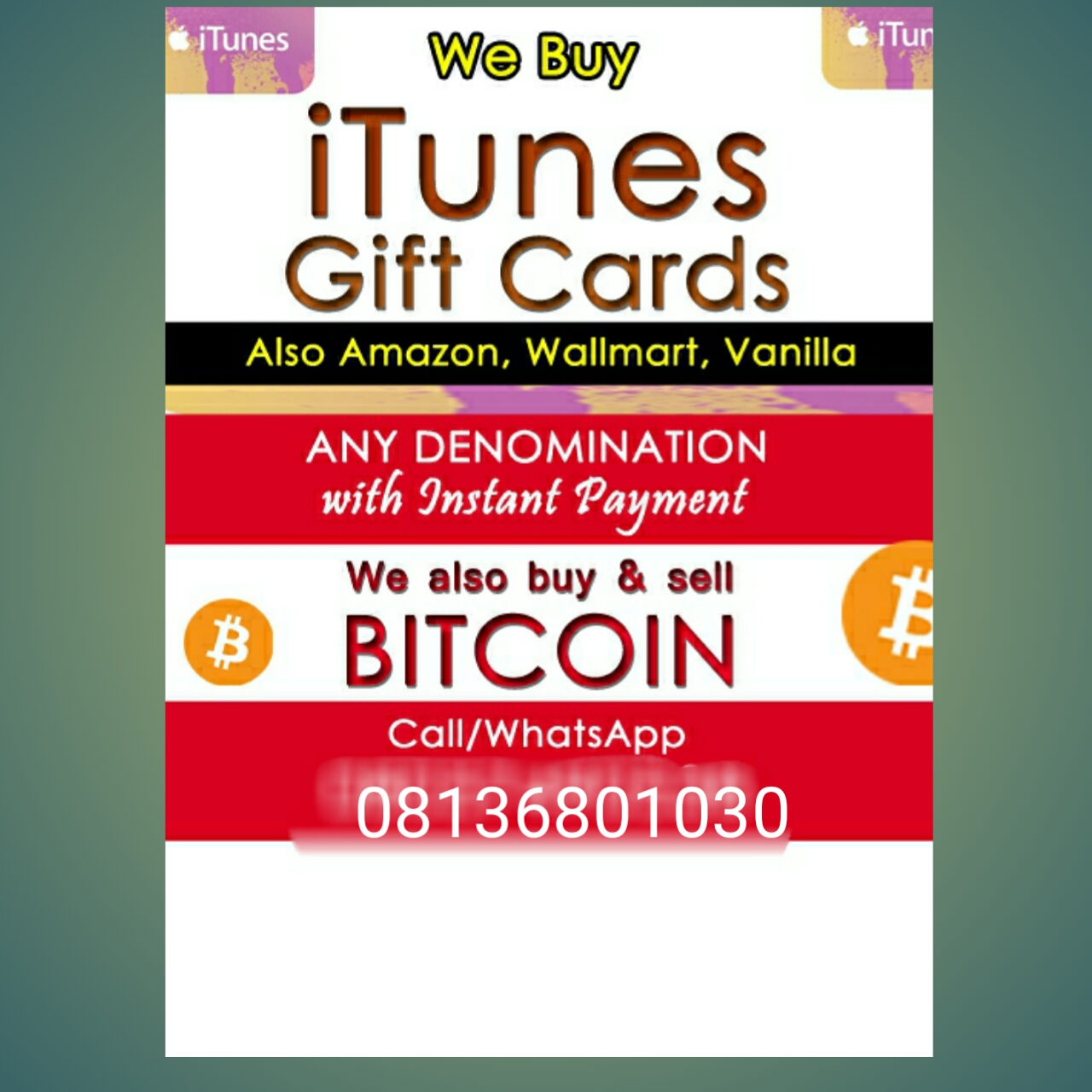 Sanyiicrown Innovations is the answer when it comes to converting your iTunes Gift Cards to Nigerian Naira. We have been in business for quite an age, ...