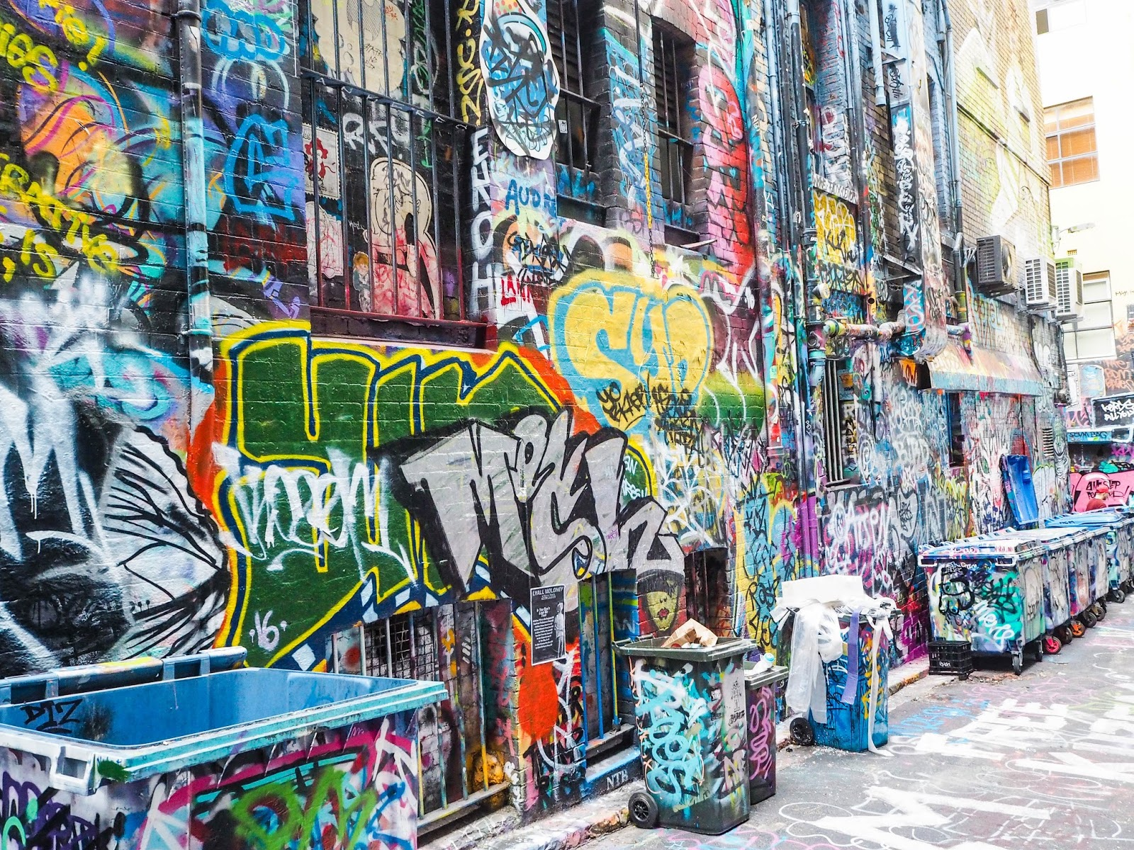 Hosier Lane street art in Melbourne