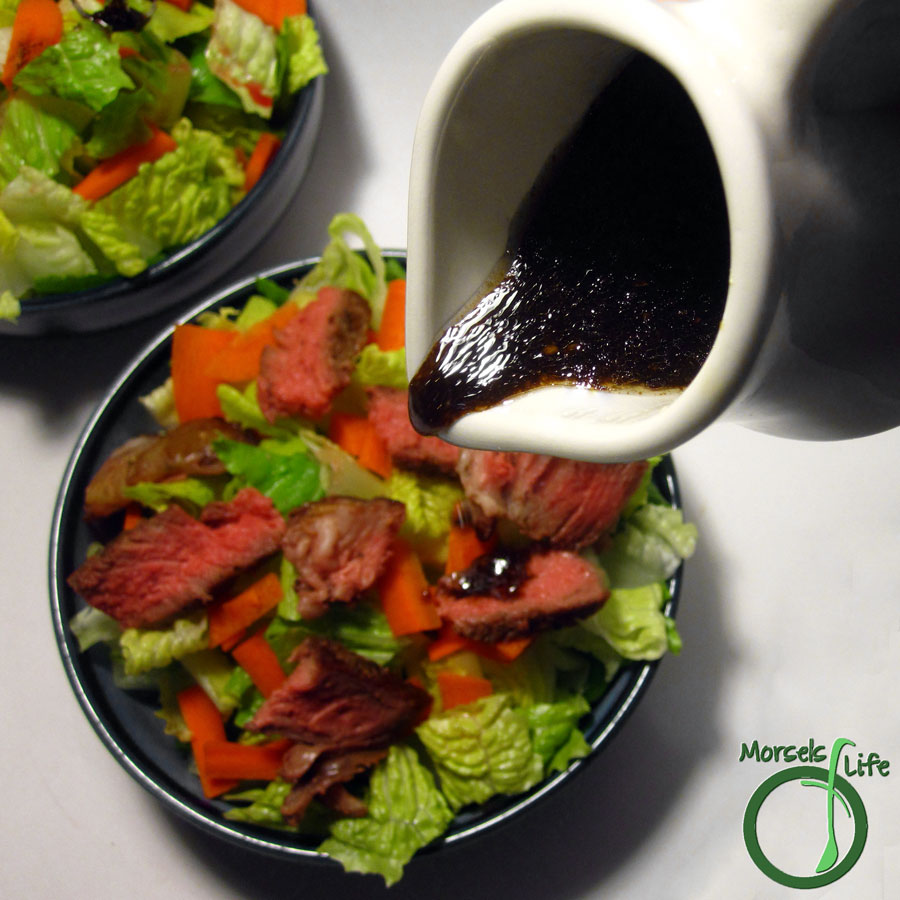 Morsels of Life - Basic Asian Dressing - A quick and simple Asian inspired salad dressing with soy sauce, ginger, and garlic mixed with a bit of oil and lime.