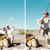 Cazadores posaban frente a su trofeo cuando la naturaleza les exigió su pago…