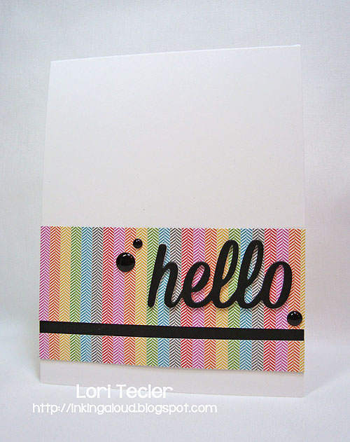 Hello-designed by Lori Tecler-Inking Aloud