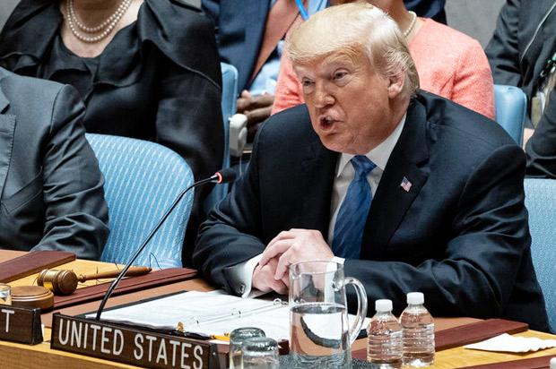 Trump Kabur dari Pertemuan Dewan Keamanan PBB