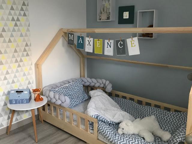Chambre d'enfant bleu thème renard