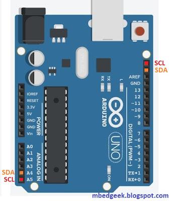 I2C pins in Arduino Uno
