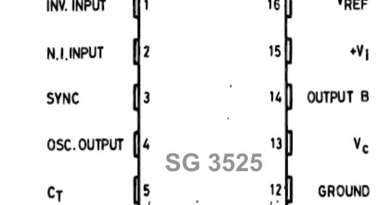 sg3525 pulse width modulator control circuits
