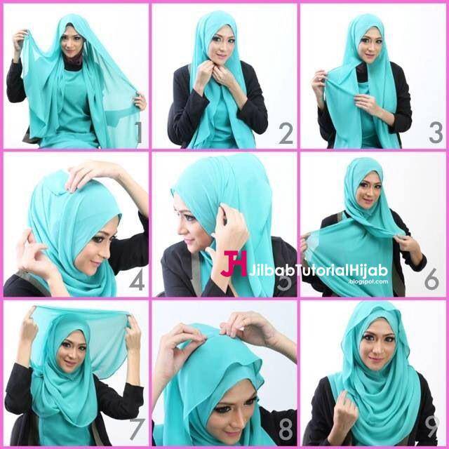 Kumpulan Gambar Tutorial Cara Memakai Hijab Pashmina