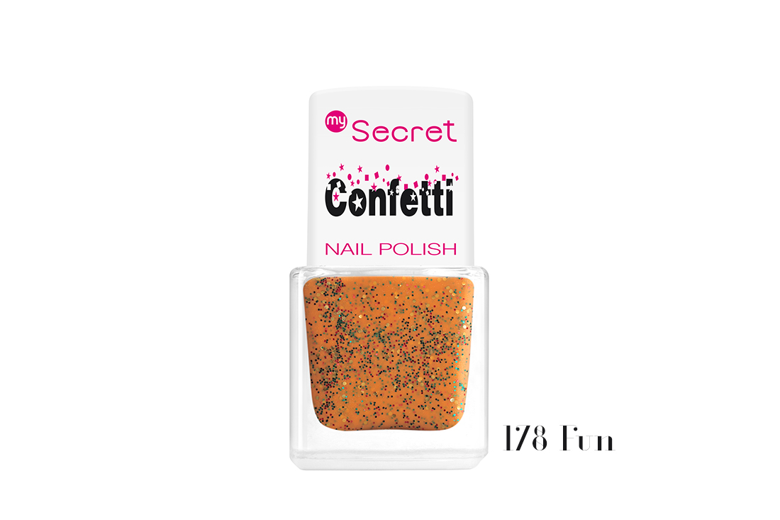 My Secret Confetti Nail Polish 178 Fun
