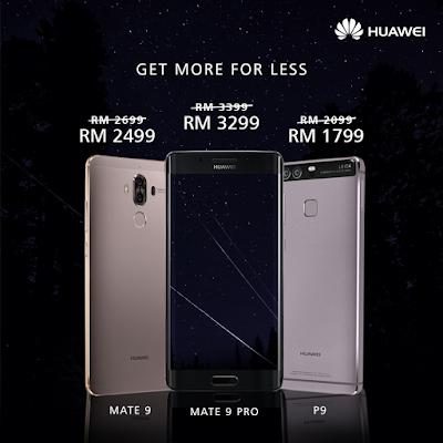 Huawei Mobile Malaysia Price Cut Mate 9 Pro P9