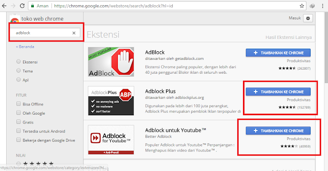 Cara Menghilangkan Iklan Pop Up di Browser Google Chrome Adblock Plus