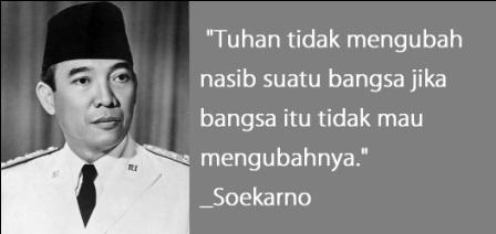 28 Kata Bijak Soekarno Penuh Semangat Nasionalisme